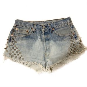 LF! RP4LF Studded Upcycled Jean Shorts